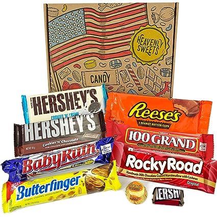 Kleiner Amerikanische Schokolade Geschenkkorb Auswahl Beinhaltet Reeses Hersheys Butterfinger Baby Ruth 9 Produkte In Einer Tollen Retro Geschenkebox American Candy Amazon De Lebensmittel Getranke