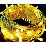 Lexton Decorative 15 Meter Rice Light for Diwali/Xmas/Eid/Gurupurab & Marriage Decoration (Yellow)