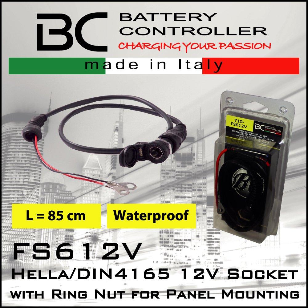 BC Battery Controller 8059070587050 DIN4165-12V-Zigarettenanz/ünderbuchse//Bordsteckdose f/ür Motorrad Durchmesser 12 mm