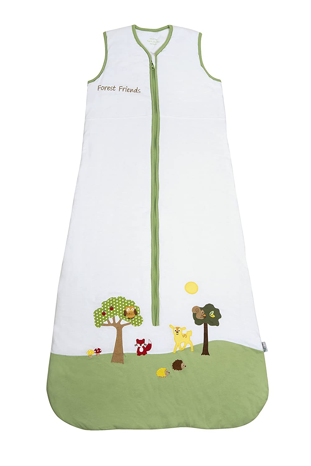 Slumbersafe Baby Sleeping Bag 2.5 Tog - Forest Friends, 6-18 months/MEDIUM