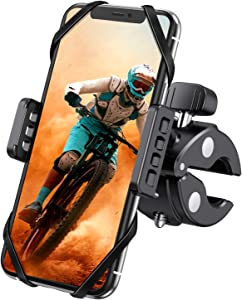 WeGuard Bike& Motorcycle Phone Mount - Universal Bike Handlebar Cell Phone Holder, Bike Cell Phone Holder Compatible with for iPhone 11 Pro, Xr, Xs Max, Samsung S20 S10+ or Any Cell Phone