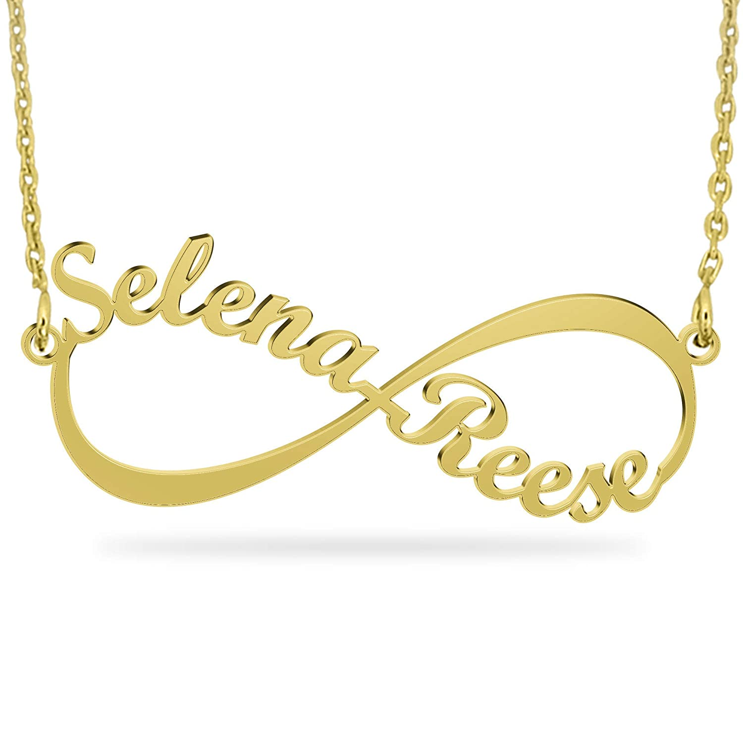 6e2b694d082a6 Infinity Pendant Name Necklace, Two Names Infinity Necklace - Custom Made  with Two Names For Couple