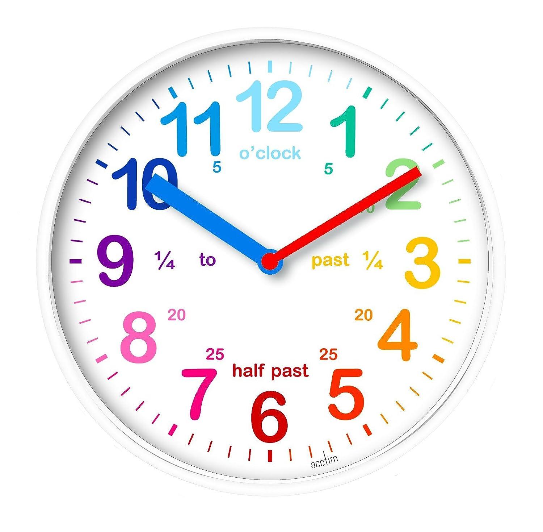 Acctim 22522 Wickford Kids Wall Clock in White