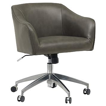Strange Rivet Modern Swivel Desk Chair 25 7H Adjustable Height Gray Forskolin Free Trial Chair Design Images Forskolin Free Trialorg