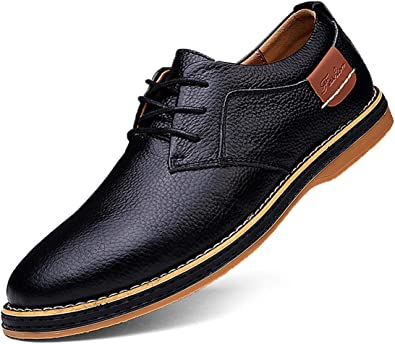 TSIODFO Men's Dress Shoes Black Brown