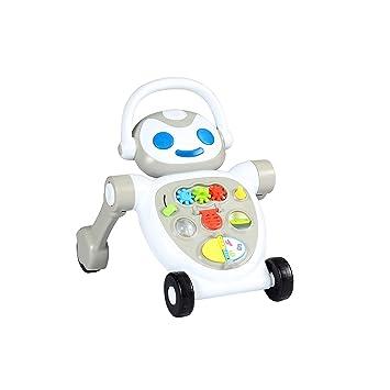 Amazon.com: Spuddies Robot - Paseador portátil, color gris: Baby