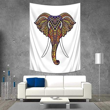 Anhuthree Elefante Bohemio Tapiz de Pared Colgante 3D Impresión ...