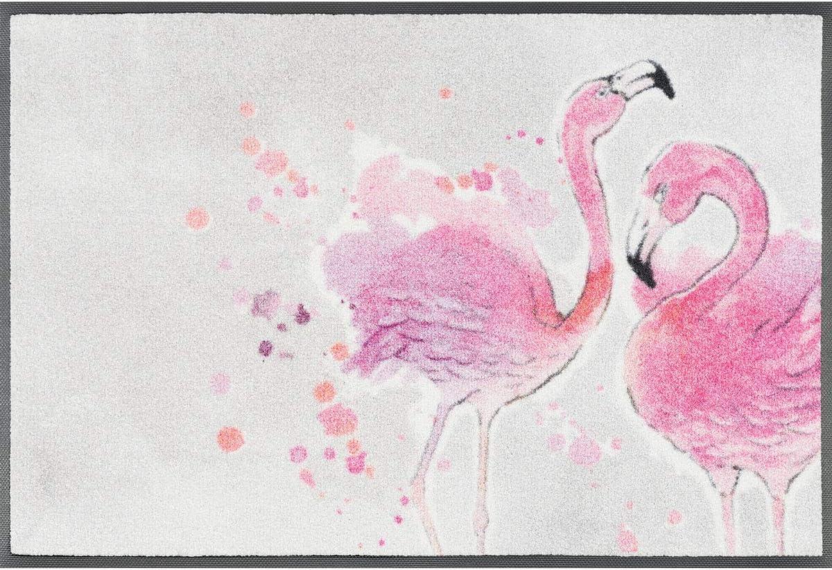 wash+dry Flamingo Zerbino decorativo Interno Rettangolare Grigio Rosa