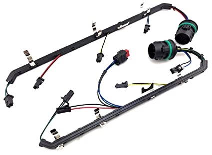 amazon com 6 4l powerstroke diesel ford 6 4 fuel injector wiring rh amazon com injector wiring harness for 2004 duramax lb7 injector wiring harness for 2006 dodge diesel