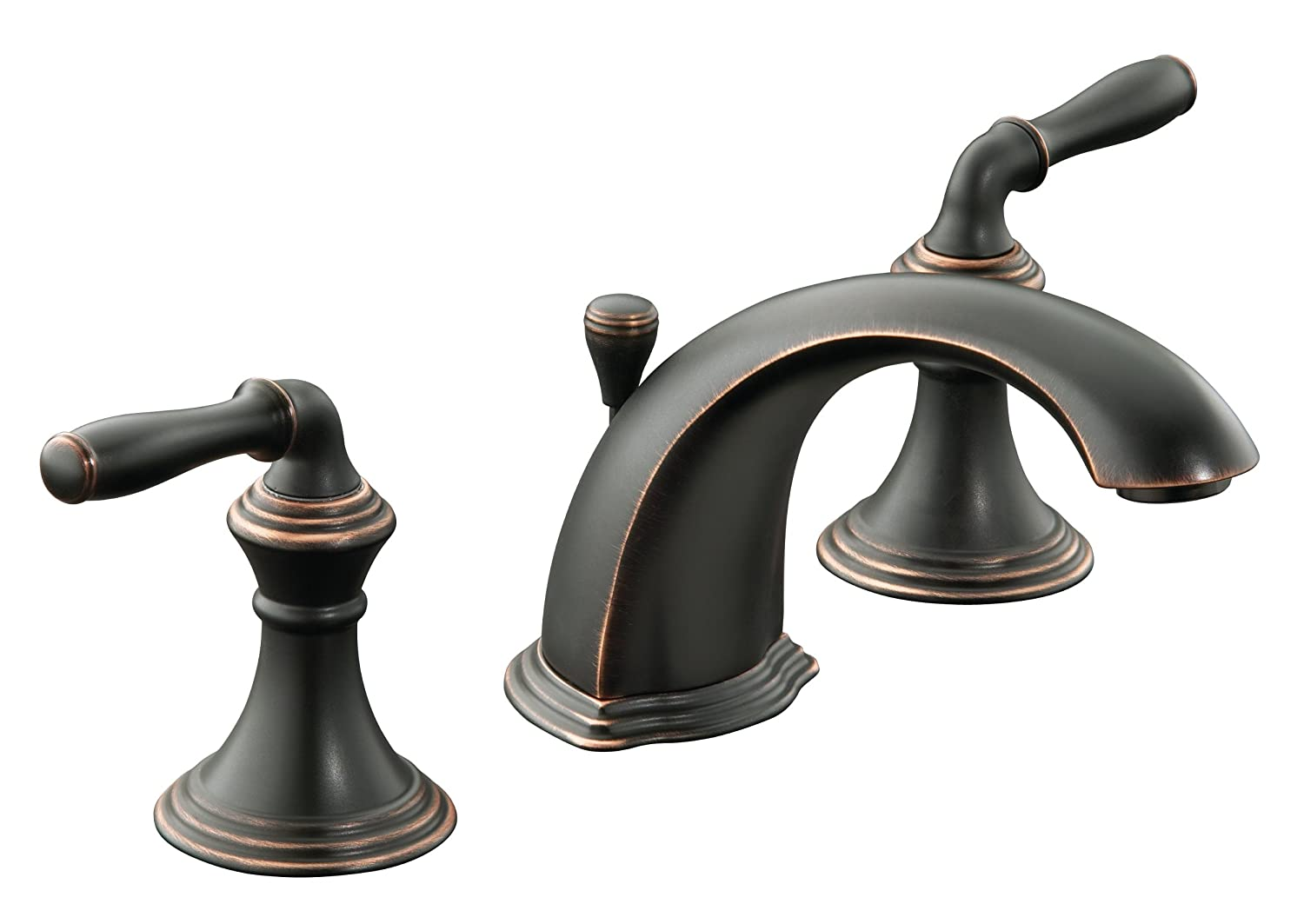 KOHLER K-394-4-BRZ Devonshire Widespread Lavatory Faucet, Oil-Rubbed ...