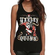 cb9f64f7cea6e7 Harley Quinn DC Comics Outlaw Pose Juniors Racer Back Tank Top
