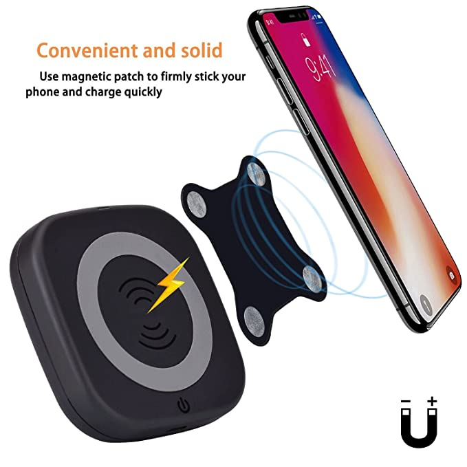 SGOOD Wireless Charger Power Bank,Portable Wireless Powerbank Qi Certified  Charging Pad,4000 mAh External Battery Pack with Magnet for iPhone Xs XR