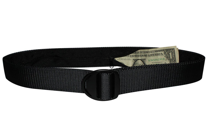 Bison Designs Crescent Money 38mm USA Made Travel Belt, Graphite, Large/42-Inch