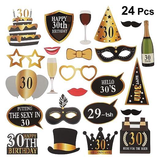 Amosfun 24 Piezas 30 cumpleaños Bricolaje años Divertidos ...