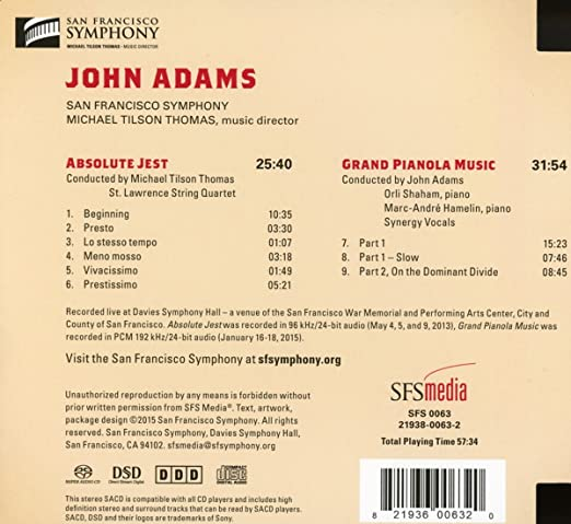 Adams / Absolute Jest: Thomas,M.T.: Amazon.es: Música