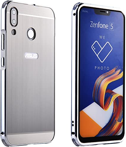 SPAK ASUS ZenFone 5 (ZE620KL), 5Z (ZS620KL) Funda,Premium Marco de Aluminio de Metal + PC Hard Back la Carcasa Provisiva de Doble Material para ZenFone 5 (ZE620KL),5Z (ZS620KL) (Plata): Amazon.es: Electrónica