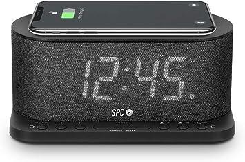 SPC Gisli Radio Despertador con tecnología Qi Wireless Charging ...