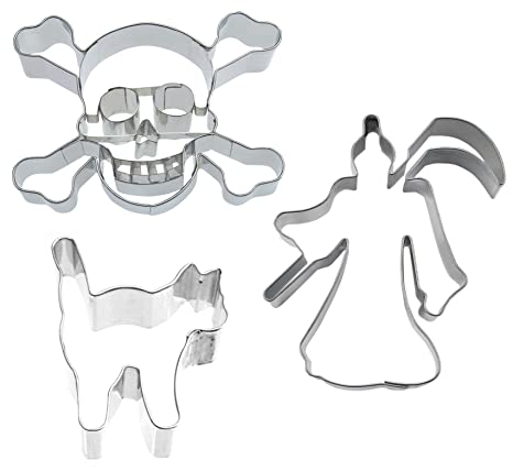 Galletas Muñeco de Juego de Halloween Spooky 6 famowesta 3 Sense – Gato – Calavera