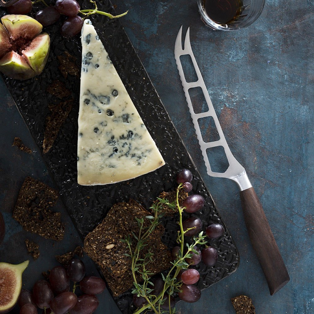 Messermeister Royale Elite 5'' Cheese & Tomato Knife with Walnut Burl Handle by Messermeister