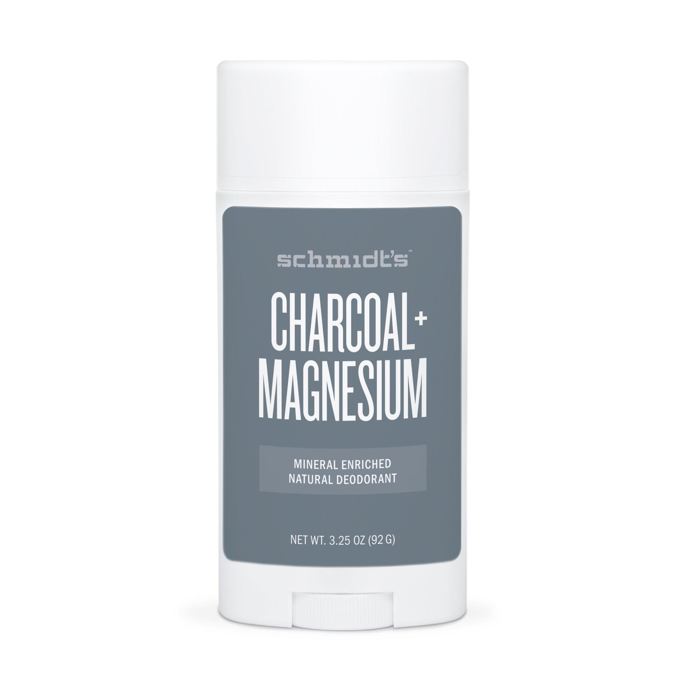 Schmidt's Deodorant Charcoal + Magnesium Deodorant 3.25 oz (92 grams) Stick(S)