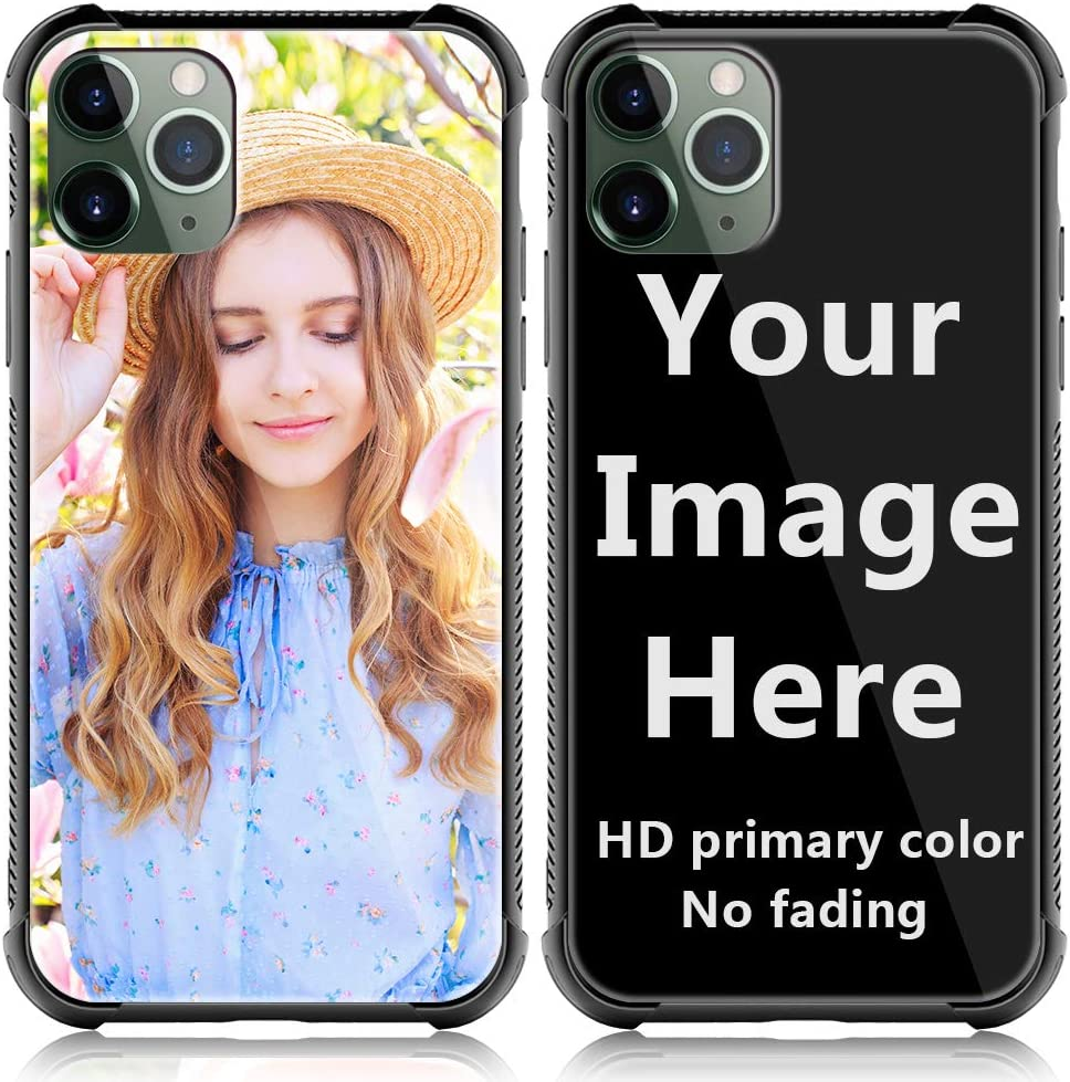 SHUMEI Custom Case for Apple iPhone 11 Pro Glass Cover 5.8 inch Anti-Scratch Soft TPU Personalized Photo Make Your Own Picture Phone Cases