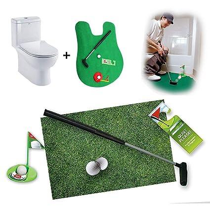 Stupendous Amazon Com Balai Mini Toilet Seat Golf Game Set Indoor Golf Evergreenethics Interior Chair Design Evergreenethicsorg