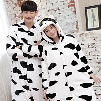 DEED Unisex Pijamas para Adultos - Peluche de una Pieza Cosplay Animal Traje Invierno Espesamiento Ocio