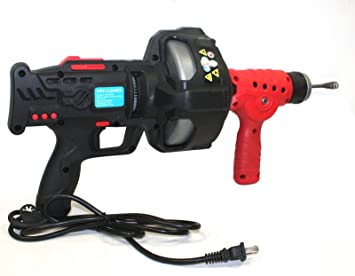 9TRADING 25ft Handheld Electric Drainer Plumbing Dredger Cleaner Drain Snake Auger Unclog