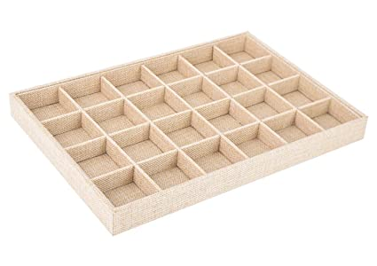Stackable wood jewelry trays