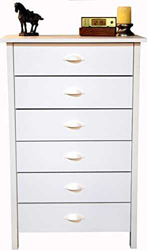 6 Drawer Chest White