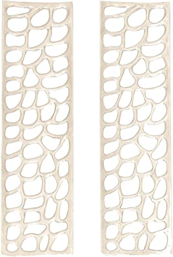 Deco 79 68964 Aluminum Wall D cor Set of 2 , 10 x 34 , Silver