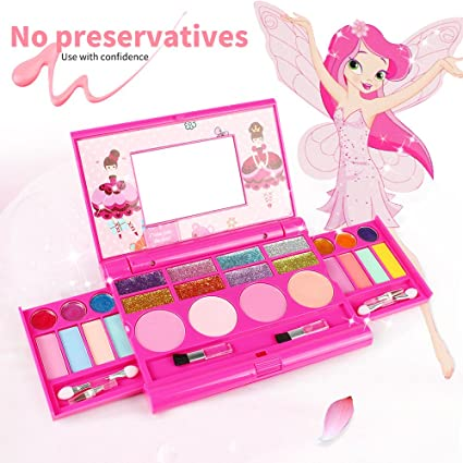 Beauty Essentials 2019 Latest Design Pretend Play Beauty Toy Cosmetics Girls Kids Safe Makeup Toy Cosmetic Toys For Children Eyeshadow Box Palette Box Sets Beauty & Health