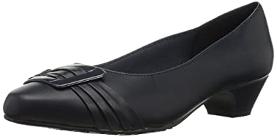 Soft Style by Hush Puppies Women's Pleats Be with You Dress Pump, Navy, 6