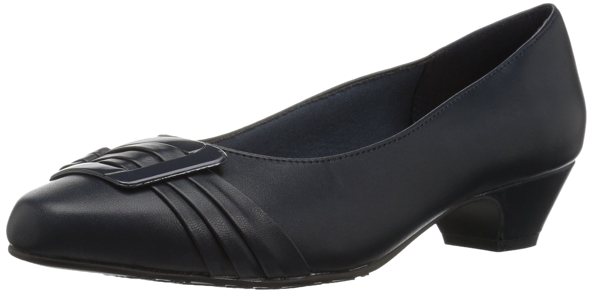 Soft Style by Hush Puppies Women's Pleats Be with You Dress Pump, Navy, 11 M US