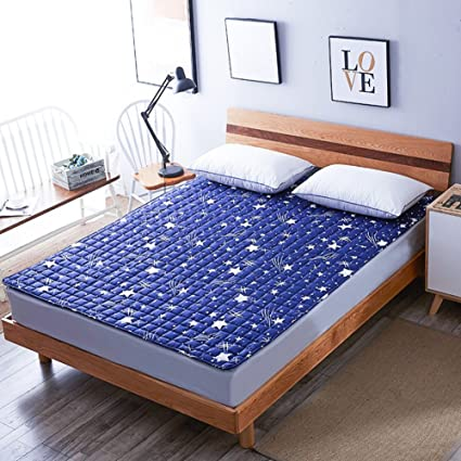 DHWJ Colchones dormitorios Plegables Almohadillas de Cama Antideslizante Lavable de Estudiante Colchón de Dormitorio-A