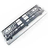 2 x Kennzeichenhalter Nummernschildhalter Kennzeichenhalterung Farbe:Rand Pinsel Silber