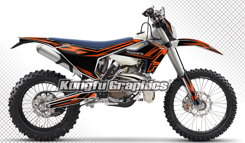 Kungfu Graphics Custom Decal Kit for Husqvarna TC FC 125 250 350 450 2016 2017 2018, White Blue by Kungfu Graphics