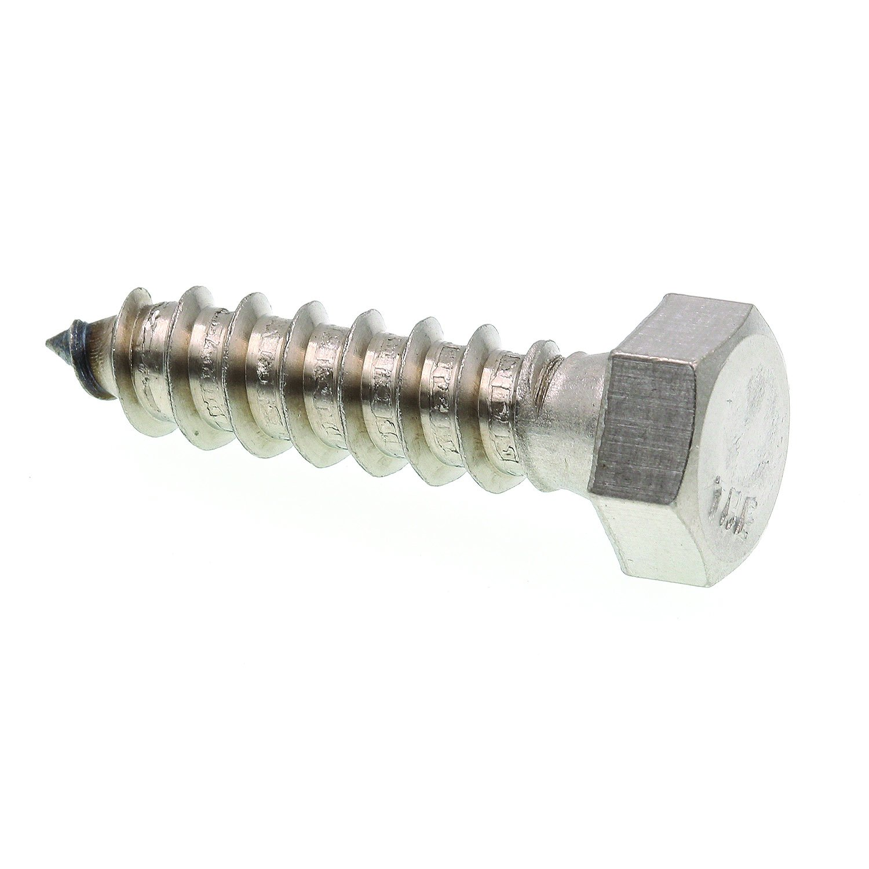Prime-Line 9056104 Hex Lag Screws, 3/8 in. X 1-1/2 in., Grade 18-8 Stainless Steel, 25-Pack
