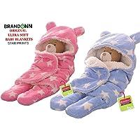 BRANDONN Sleeping Bag (Sky Blue/ Baby Pink) - Pack Of 2
