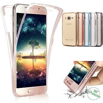 Funda carcasa samsung galaxy j7 2016, Ukayfe 360 Grad TPU silicona goma gel funda para Samsung Galaxy J7 2016 UltraSlim policarbonato de precioso de ...