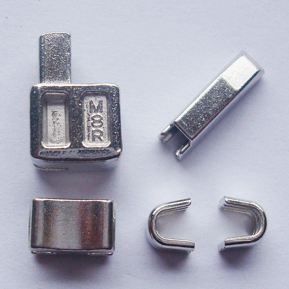 2set Silver # 8chiusura lampo in testa box cursori cerniera fermo inserimento pin facile per riparazione con cerniera, kit di riparazione (# 8) MYIW