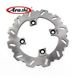 Arashi Rear Brake Disc Rotor for Kawasaki Ninja ZX6R 1995-1997 / Ninja ZX12R 2000-2006 / ZZR600 1991 1992 Motorcycle Accessories ZX-6R ZX-12R ZZR 600 Silver 1996 2001 2002 2003 2004 2005