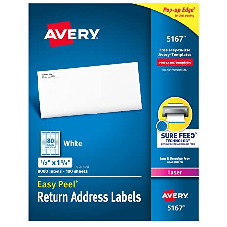 Amazon Avery Mailing Address Labels Laser Printers 8 000