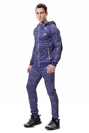 comment avoir acheter en ligne magasiner pour les plus récents AIRAVATA Homme Ensemble Pantalon de Sport Sweatshirt à Capuche Jogging  Survêtement