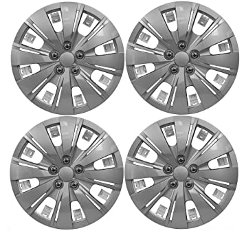 "Wing Mirrors World Hyundai Getz Coche tapacubos de plástico Cubre Las Vegas 14 ""Plata"