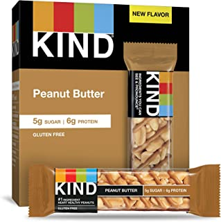 product image for KIND Bars, Peanut Butter, Low Sugar, Gluten Free Bars, 1.4 Ounce, 60 Count