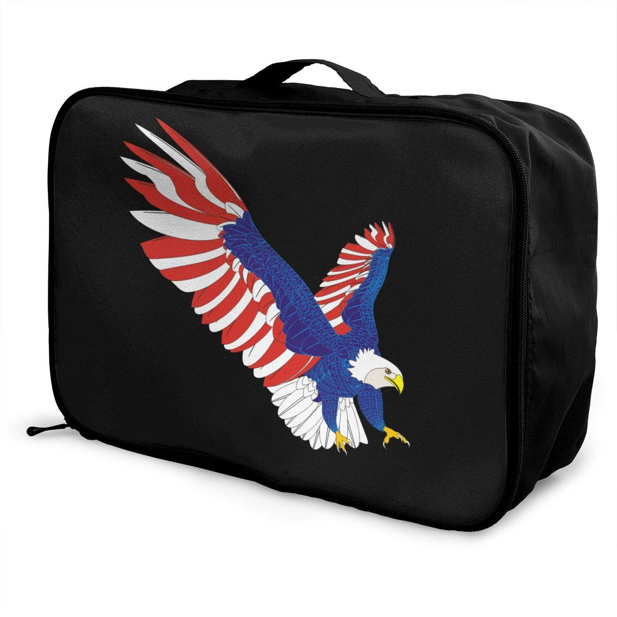 YueLJB American Eagle Lightweight Large Capacity Portable Luggage Bag Travel Duffel Bag Storage Carry Luggage Duffle Tote Bag