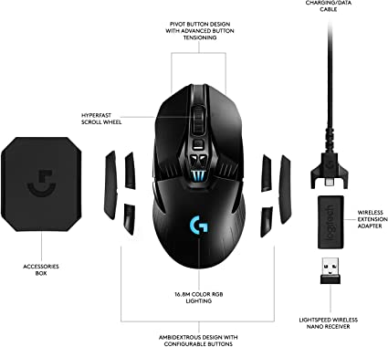 Logitech G903 Lightspeed Gaming Mouse With Powerplay Computers Accessories