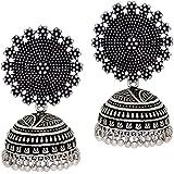 Jaipur Mart Jhumki Earrings for Women (Silver)(GSE247SLV)