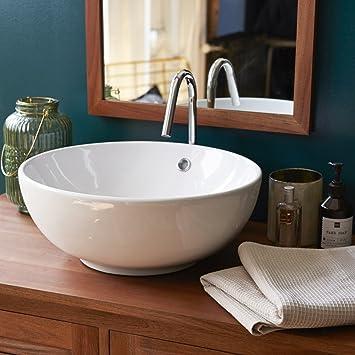 Waschbecken aus keramik Aufsatzwaschbecken Badezimmer rund ...